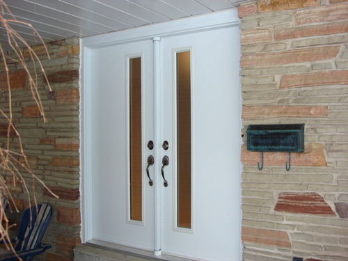 Double Steel Door with Offset Glass